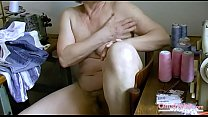 OmaHoteL Hairy Granny Pussy Filled With Adult Toy Image