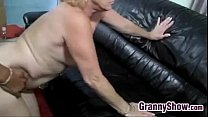Blonde Grandma Being Licked And Fucked porn image