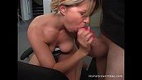 Busty blonde wife strips then sucks thumb