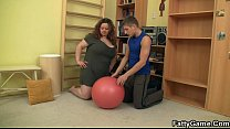 10223 Hot BBW sex in the gym preview