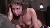 Dick Chibbles cock feeding Elena Koshka his aged man meat!