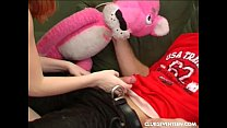 Busty teen Tanya suck and ride a large prick