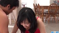 Threesome sex action with lingerie model Nozomi Hatsuki thumbnail