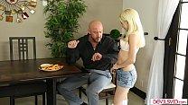 Teen Babysitter Flirts With Her Boss