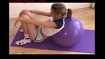 teen gril naked workout