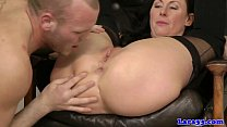 Glamcore british milf slut crazy on cock Thumbnail