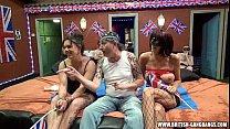 Orgy - British amateur girls gangbang swingers party