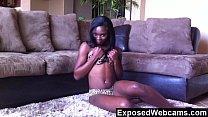 Cute Black Teen Orgasming On The Floor preview image