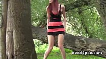 Nice girls outdoor hidden pee 2