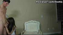 Blonde teen stepdaughter caught her step mom sucking her bf