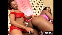 2 thick ass ebony lesbians dressed in corsets