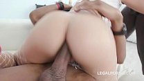 Double Anal Creampie, Amirah Adara gets 2 BBC with Balls Deep Anal, DP, DAP, Gapes, Crampie GIO764 image