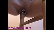 Pierced Pussy Masturbate Fucking Leg Chair Huge Piercings