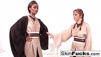 Sexy Skin teaches new recruit Penny Pax the force's Thumb
