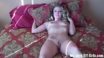 Shoot your sperm on my tits JOI