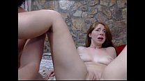 Redhead chick gets fucked and creampie