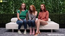 3 Redheads and One Lucky Guy's Thumb
