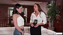 GIRLSWAY - She is attracted to policewomen - Abigail Mac and Kissa Sins