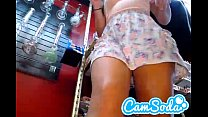 hot teen showing upskirt at work thumbnail