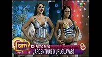 Valeria Degenaro & Pamela Paiva en bodypainting