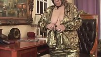 Horny granny gets sexual satisfaction