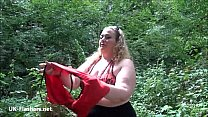 Fat mature flasher Sammis public nudity and outdoor masturbation of bbw housewif Preview