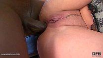 Hot Brunette hardcore interracial ass fucked black cock صورة