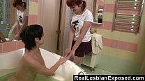 Redhead Stumbling On Her Roomate Masturbating