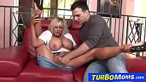Melon tits gilf Tia Gunn is fucking a horny boy