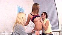 Eager Trio sensual lesbian scene by SapphiX
