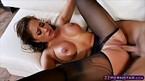 Busty chick gets fucked rough in pantyhose and ...