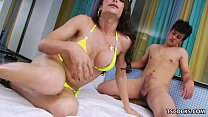 TS Carla Moura getting fucked by a hung guy
