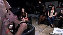 CFNM Party girls suck and fuck male strippers Image