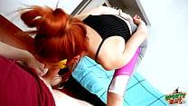 Incredible BIG ASS Latina Teen Sucking Cock Working Out thumbnail