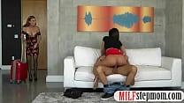 Teen slut and big boobs MILF threesome with nasty man