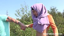 Czech teen muslim girl Mila Fox and her horny b...