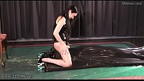 Japanese Femdom Saran Facesitting and Foot Fetish to Rubber Slave