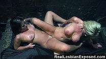 RealLesbianExposed - Teaching a Rude Customer a...