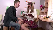 Young Euro Babe Marika Has Some After School Anal