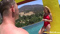 Swimming professor Angela Attison pleasures her lusty student