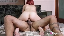 17521 Slutty redhead Sarita can do A HELL OF A WET FOOTJOB before having a nice ASSFUCK preview