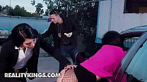 Image: 8th Street Latines - (Gina Valentina, Victoria June, Justin Hunt) - Hooker On The Run - Reality Kings
