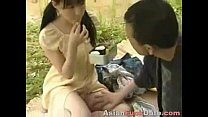 Chinese couple fucking in public park thumb