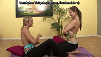Hot Redhead and Exotic Brunette Have Lick Session in Bed