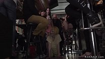 Spanish public bar orgy fucking