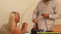 Real amateur in couple creampied after riding
