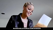BlackValleyGirls - Eby Teen Gives Neighbor An Amazing Blowjob - 9Club.Top