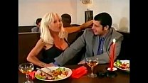Beautiful Super Hot Blonde Gangbanged and DP in Bar, Helen Duval