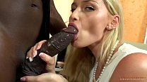 Your gorgeous WHITE wife FUCKING your boss's 11 inches BIG, BLACK COCK right front of you! image
