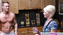Dani Desire gets a hot creampie in her tiny pussy video